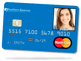 1 inch photo personalized debit card