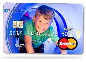 edge-to-edge photo personalized debit card