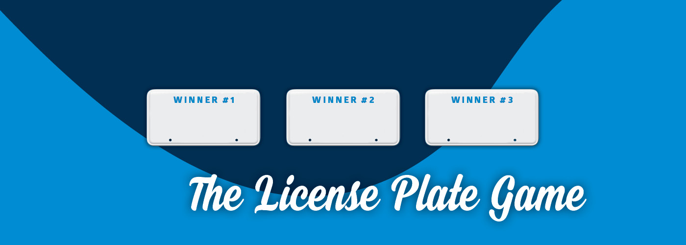 License Plate Game Slider