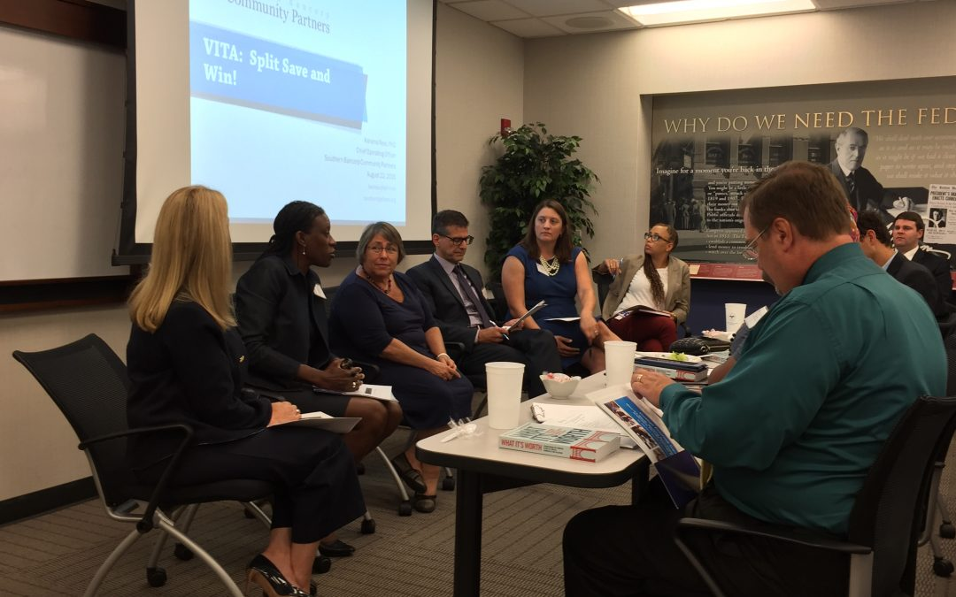 Southern Bancorp Community Partners talks Split, Save and Win! at Savings and Education panel