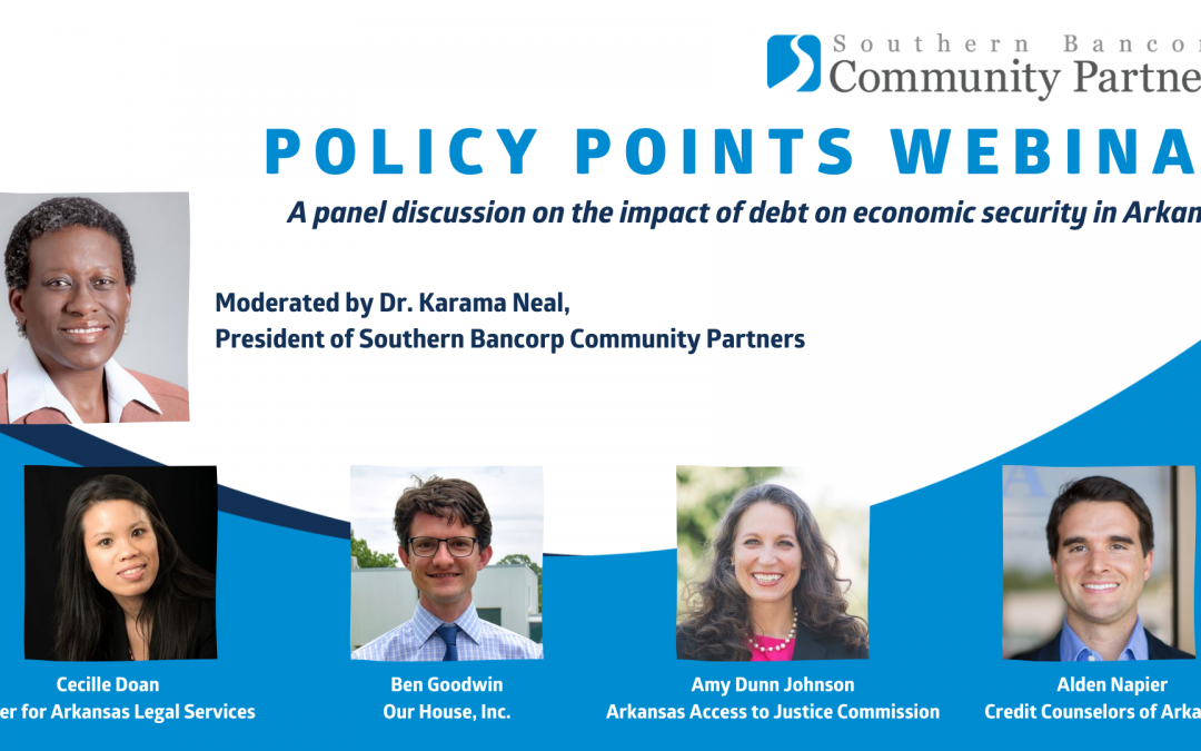 Southern Bancorp Community Partners announces policy brief and webinar addressing debt in Arkansas
